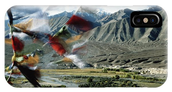 Bunting iPhone Case - Bunting Flying In Sky With Kunlun by John and Lisa Merrill
