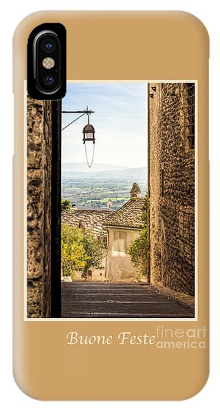 Buone Feste With Valley Outside Of Assisi IPhone Case
