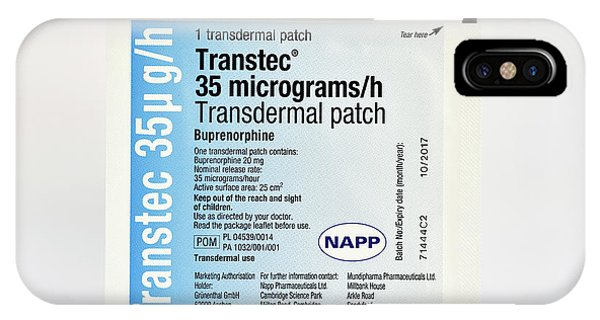 Chronic Pain iPhone Case - Buprenorphine Painkiller Transdermal Patch by Dr P. Marazzi/science Photo Library