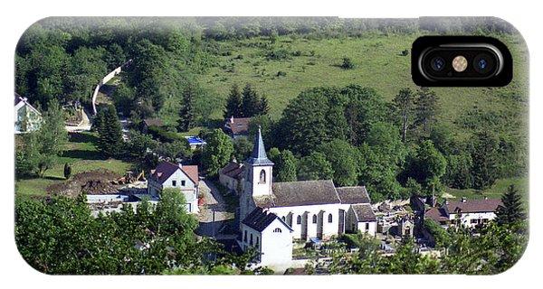 Burgundy Village IPhone Case
