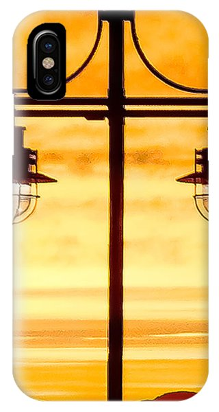IPhone Case featuring the photograph Burlington Dock Lights by Jim Proctor