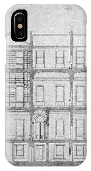 Burlington House Architectural Plans Phone Case by Royal Astronomical Society/science Photo Library