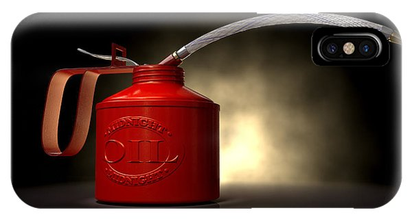 Dispenser iPhone Case - Burn The Midnight Oil Can by Allan Swart