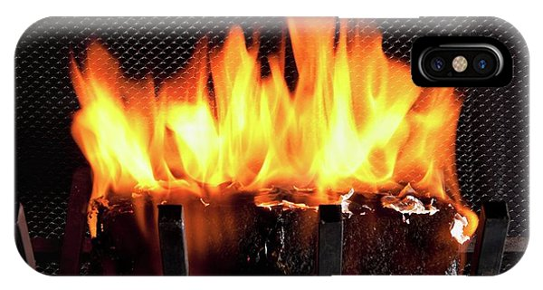 Burning Biofuel Log Phone Case by Peggy Greb/us Department Of Agriculture