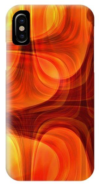 Burning Cross IPhone Case