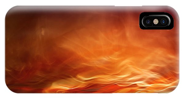 Fire iPhone Case - Burning Water by Willy Marthinussen