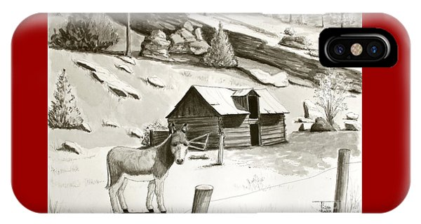 Burro In The Rockies IPhone Case
