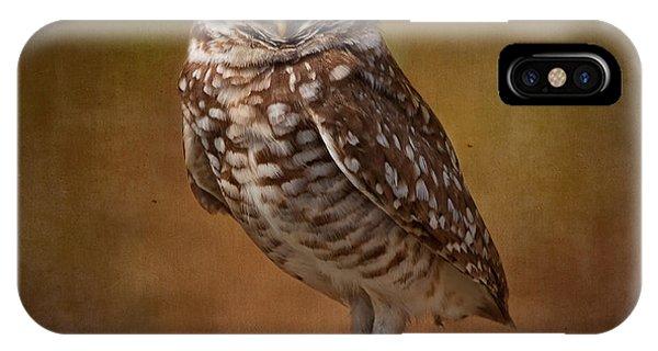 Burrowing Owl Portrait IPhone Case
