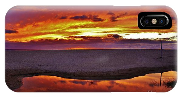 Burst Of Sunset Improves Overcast Day IPhone Case