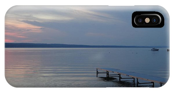 Burt Lake Dock IPhone Case