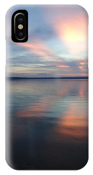 Burt Lake Sunset IPhone Case