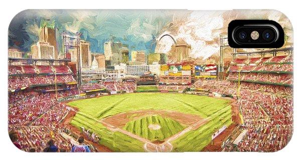 Busch Stadium St. Louis Cardinals Day Paint IPhone Case