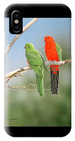 Bush Monarchs - King Parrots IPhone Case