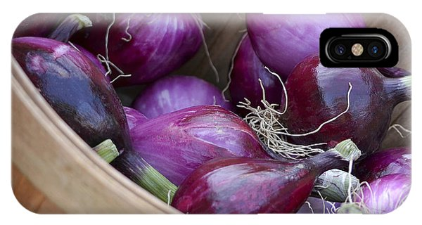 Bushel Of Red Onions Farmers Market IPhone Case