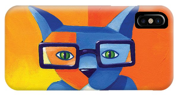 Cat iPhone Case - Business Cat by Mike Lawrence