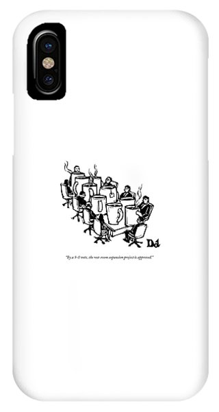 Businessmen Sit Around Conference Table IPhone Case