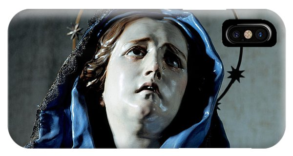 Anguish iPhone Case - Bust Of Painful Virgin by Francisco Salzillo