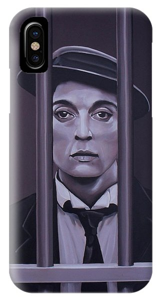 Buster Keaton Painting IPhone Case