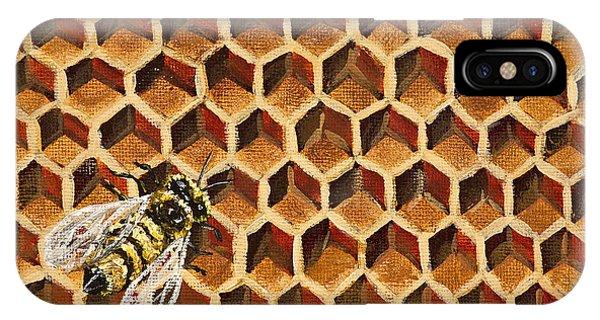 Honeybee iPhone X Case - Busy Bee by Darice Machel McGuire
