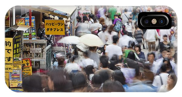 Busy Takeshita Dori IPhone Case