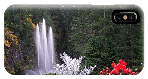Butchart Gardens Fountain IPhone Case