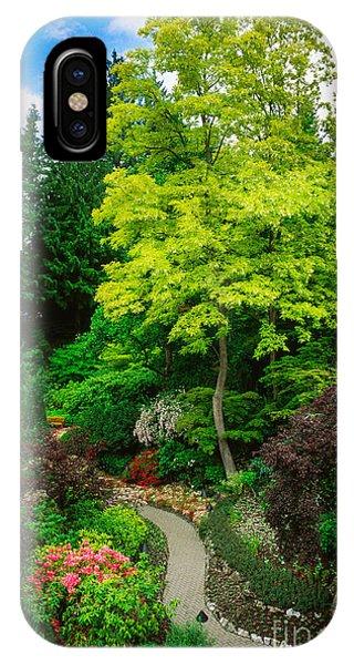 Butchart Gardens Pathway IPhone Case