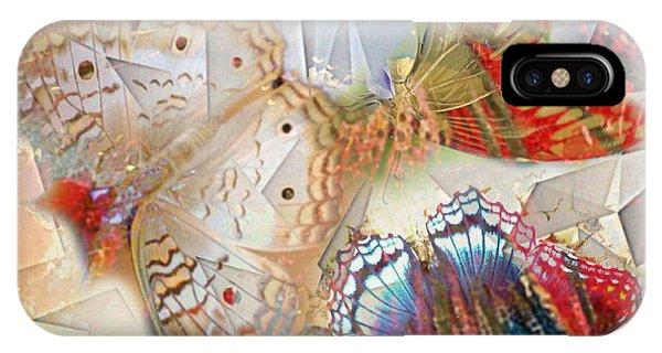 Butterflies Geometric 2 IPhone Case