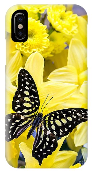Butterfly Among The Daffodils IPhone Case
