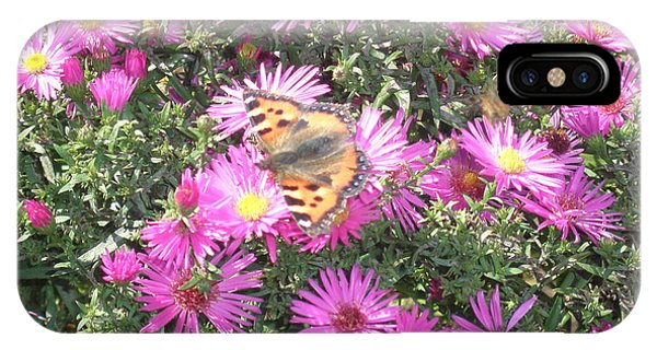 Butterfly And Pink Flowers IPhone Case