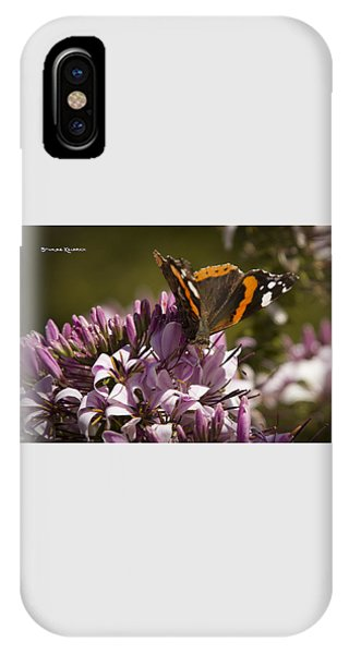 IPhone Case featuring the photograph Butterfly Close Up by Stwayne Keubrick