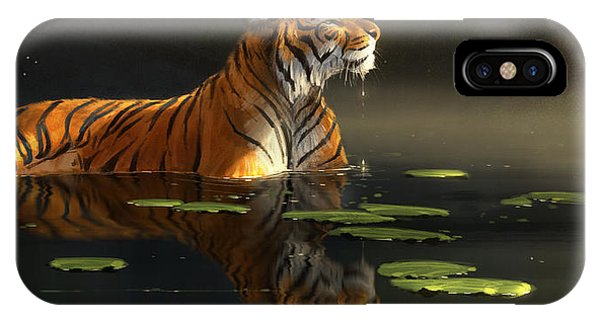 Tiger iPhone Case - Butterfly Contemplation by Aaron Blaise