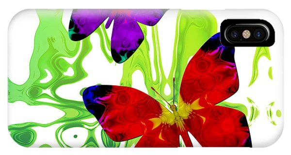 Butterfly Duet - Harmony IPhone Case