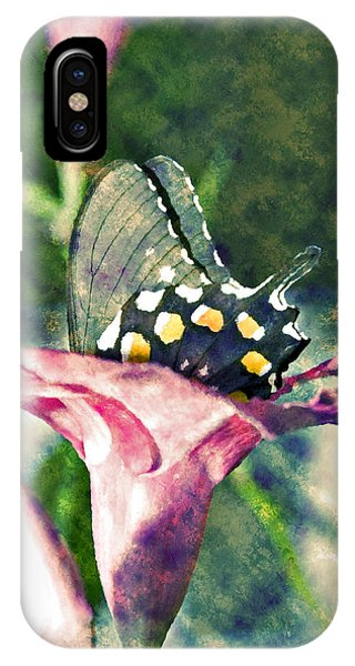 Butterfly In Flower IPhone Case