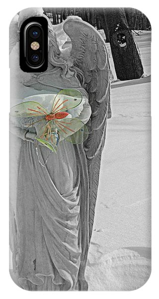 Butterfly In The Snow IPhone Case