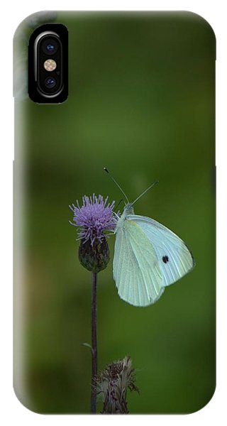 Butterfly In White 2 IPhone Case