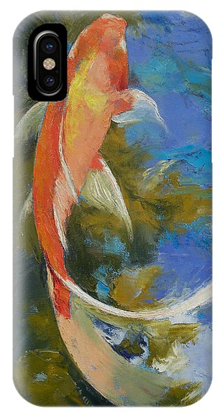 Fish iPhone Case - Butterfly Koi Painting by Michael Creese