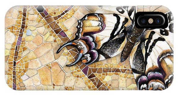 Butterfly Mosaic 01 Elena Yakubovich IPhone Case