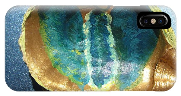 Butterfly On An Oyster Shell Phone Case by Debbie Nester