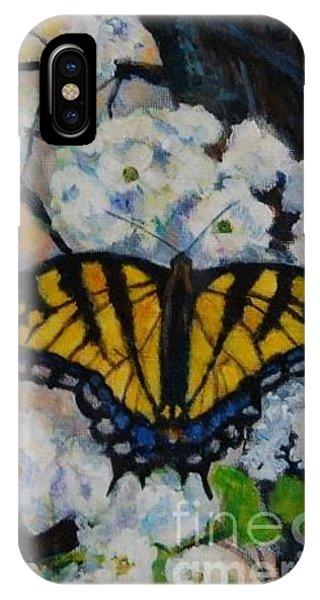 Butterfly On Tree Phone Case by Jana Baker