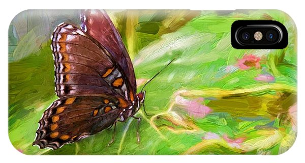 Butterfly - Red-spotted Purple IPhone Case