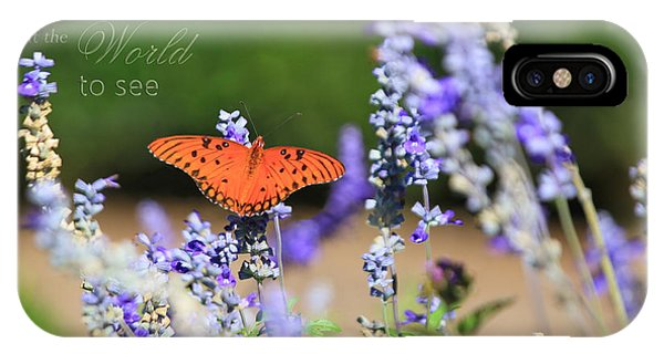Butterfly With Message IPhone Case