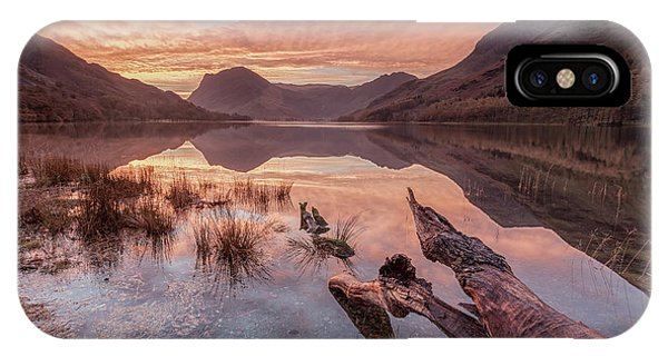 Clear iPhone Case - Buttermere Sunrise by George Johnson