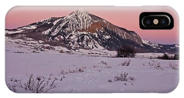 Butte's Winter Glow IPhone Case