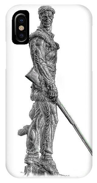 Bw Of Mountaineer Statue IPhone Case