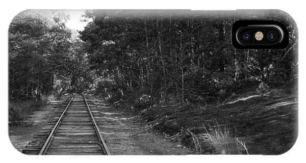 Bw Railroad Track To Somewhere IPhone Case