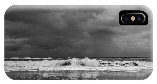 Bw Stormy Seascape IPhone Case