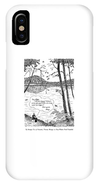 By Strategic Use Of Postcards IPhone Case