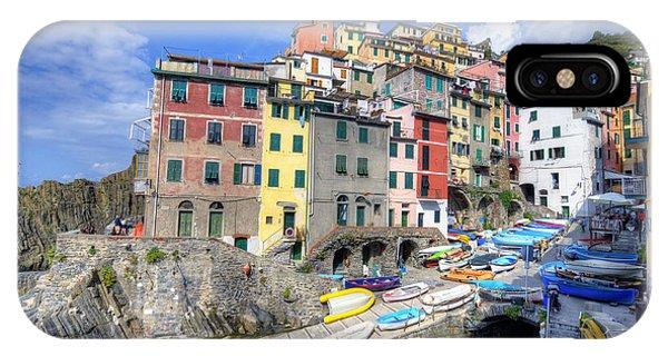 By The Harbor In Riomaggiore IPhone Case