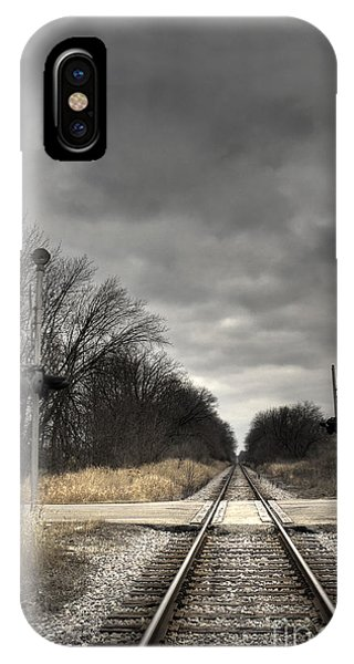 Railroad Signal iPhone Case - By Train by Margie Hurwich