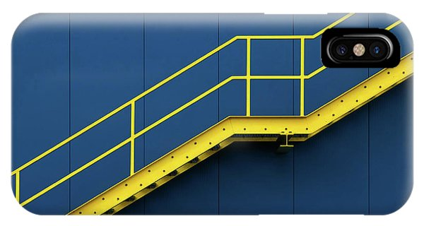 Staircase iPhone Case - Bycicle by Hans-wolfgang Hawerkamp